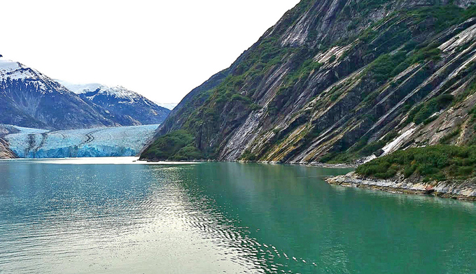 Image of a fjord from Alaskan cruise